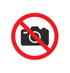no photography sign images vector image