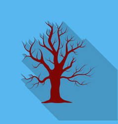 Oak icon in flate style for web vector