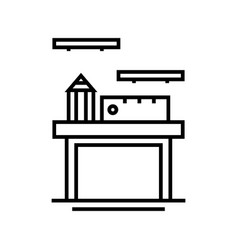Office supply line icon concept sign outline vector