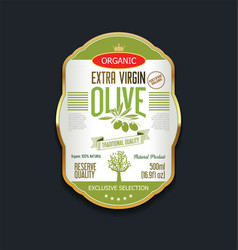 Olive oil retro vintage background label vector