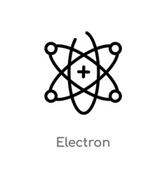 Outline electron icon isolated black simple line vector