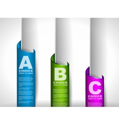 Paper style Ranking tags vector image