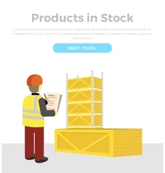 Products in Stock Delivery of Goods Banner vector