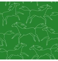 Running horses seamless pattern vector image