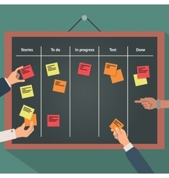 scrum agile board with flat vector image
