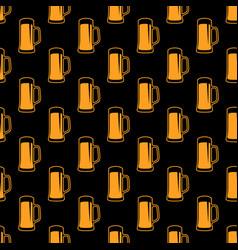 seamless beer pattern vector image