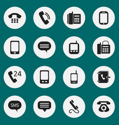 Set of 16 editable gadget icons includes symbols vector