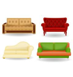 Set sofa vector