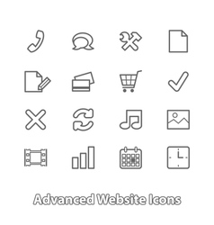 Set website icons for online shopping contour vector