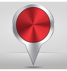 Silver Map Location Pointer Icon vector image