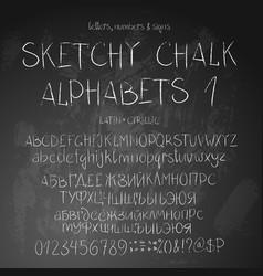Sketchy alphabets vector