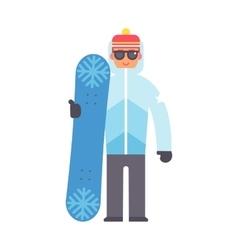 Skiing snowboard man vector