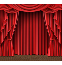 Stage curtain realistic vector