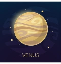 The planet Venus vector image
