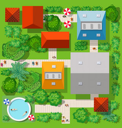 top view of the colorful vector image
