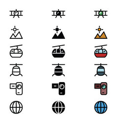 Travel Responsive Icons 3 vector