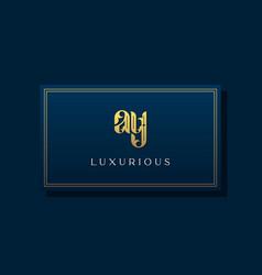 Vintage royal initial letter ay logo vector