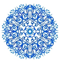 Watercolor blue mandala vector image