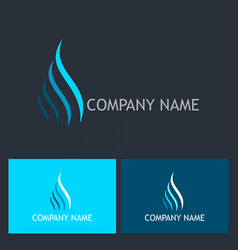 Wave air flow abstract company logo vector