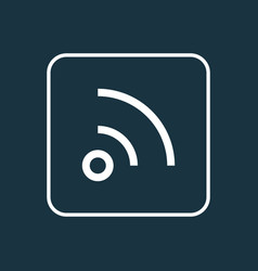 Wifi outline symbol premium quality isolated feed vector