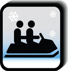 Winter icon -Bob vector image