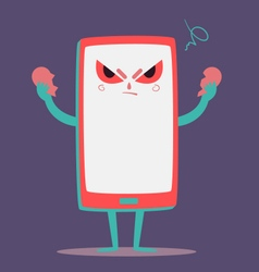 Angry Cell Phone Tearing a Heart Apart vector image