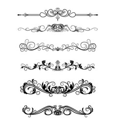 curls to frame vector image vector image