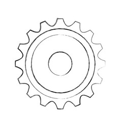 gears machine isolated icon vector image