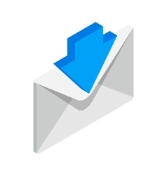 Incoming email icon isometric 3d style vector image