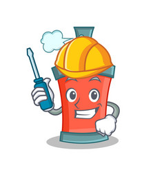 automotive aerosol spray can character cartoon vector image vector image
