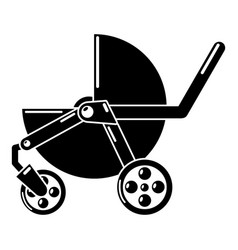 baby carriage modern icon simple black style vector image vector image