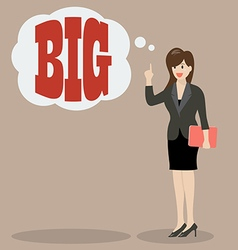 Business woman think big vector image vector image
