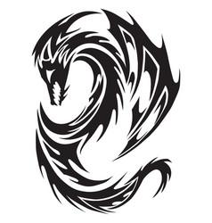 dragon tattoo vintage engraving vector image