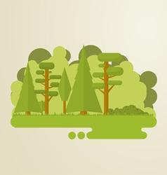 Flat trees abstract island vector image