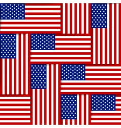 American seamless pattern vector image vector image