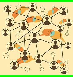 Avatars social media connections vector