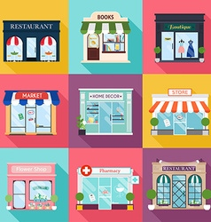 Cool set of detailed flat design restaurants and vector image