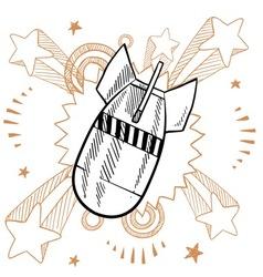doodle pop bomb drop vector image