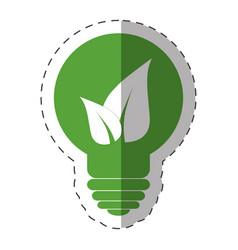 environment bulb leave light vector image vector image