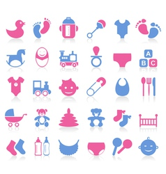 Family baby icon vector image