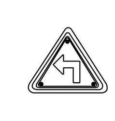 figure metal emblem warning sign icon vector image vector image
