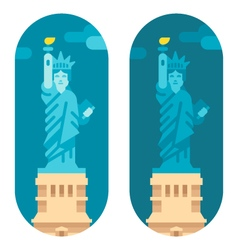 Flat design liberty statue vector image