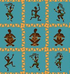 Seamless pattern of dancing African aborigines vector image vector image