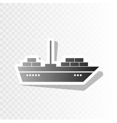ship sign new year blackish vector image