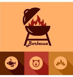 Barbecue design elements vector