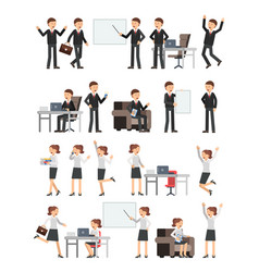 different business peoples male and female in vector image vector image