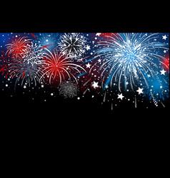 fireworks background design vector image vector image