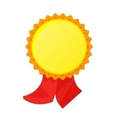 Gold award with ribbon icon cartoon style vector image vector image
