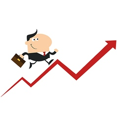 Man Running Up the Success Ladder Cartoon vector image vector image