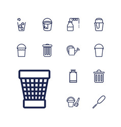 13 bucket icons vector